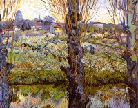 Винсент  ван Гог  Orchard in Bloom with Poplars