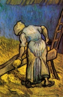 Винсент  ван Гог  Peasant Woman Cutting Straw after Millet