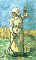 Винсент  ван Гог  Peasant Woman with a Rake after Millet