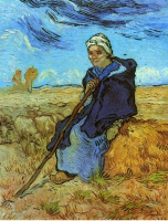 Винсент  ван Гог  The Shepherdess (after Millet)
