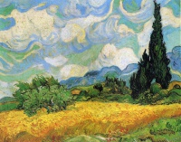 Винсент  ван Гог  Wheat Field with Cypresses at the Haude Galline near Eygalieres