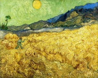 Винсент  ван Гог  Wheat Field with Reaper and Sun