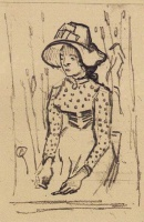 Винсент  ван Гог  Girl with Straw Hat, Sitting in the Wheat