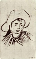 Винсент  ван Гог  Head of a Boy with Broad-Brimmed Hat
