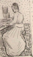 Винсент  ван Гог  Marguerite Gachet at the Piano