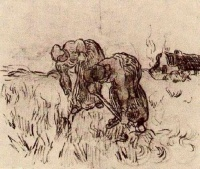 Винсент  ван Гог  Peasant Woman Digging