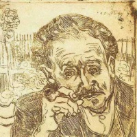 Винсент  ван Гог  Portrait of Doctor Gachet (A man with pipe)