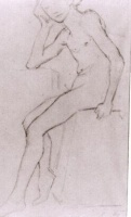 Винсент  ван Гог  Seated Nude after Bargues