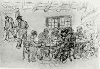 Винсент  ван Гог  Sheet with Two Groups of Peasants at a Meal