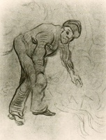 Винсент  ван Гог  Sketch of a Stooping Man