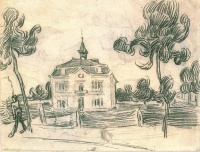 Винсент  ван Гог  The Town Hall at Auvers
