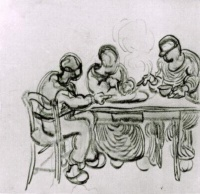 Винсент  ван Гог  Three Peasants at a Meal