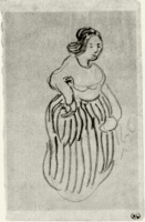 Винсент  ван Гог  Woman with Striped Skirt