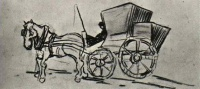 Винсент  ван Гог  Carriage Drawn by a Horse