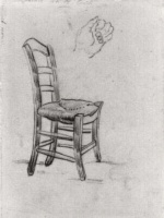 Винсент  ван Гог  Chair and Sketch of a Hand